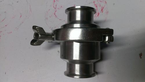válvula check  acero inox