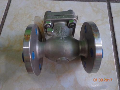válvula check de acero inoxidable 1 pulgada clase 150