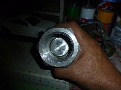 valvula check de acero inoxidable de 1.1/4 pt exagonal
