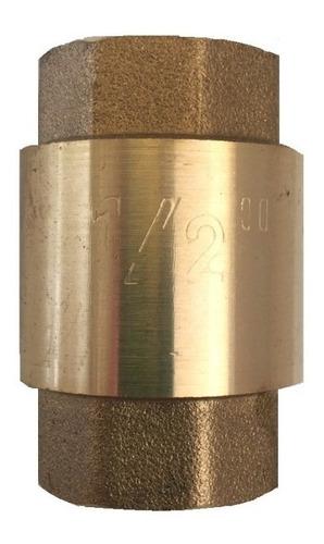 valvula check vertical bronce 1/2