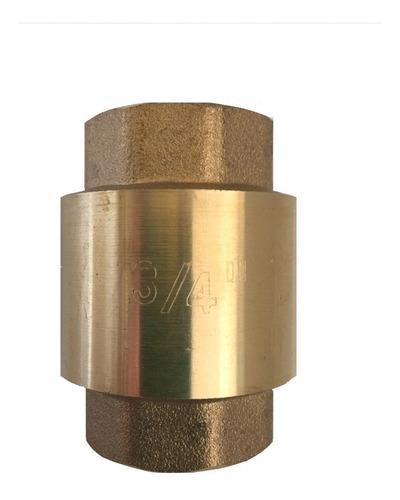 valvula check vertical bronce 3/4 pulgadas bronce