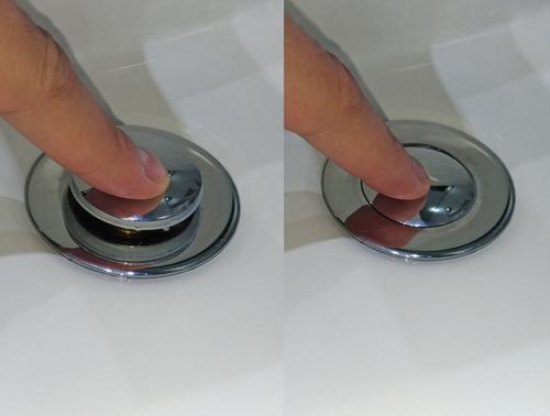 válvula click com ladrão, ralo click dreno cuba pia banheiro