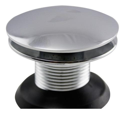 válvula click up de inox p/ cuba vidro e louça ralo banheiro