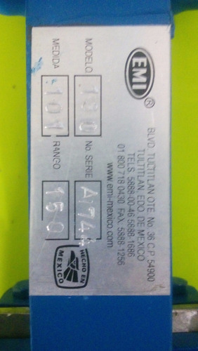 válvula cuchilla bridada rf tipo desfogue de 4  150 lbs.