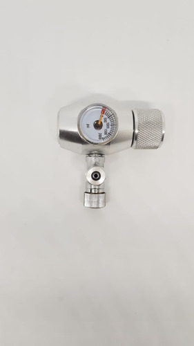 valvula de co2 aluminio medidor carga y regulador de salida