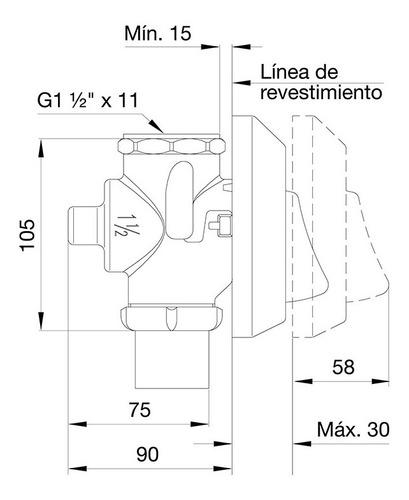 valvula de descarga de inodoro 368.01 de fv