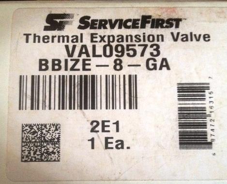 válvula de expansión 8 ton refrigerante r410a