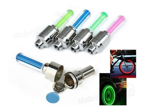 válvula de luz para ruedas autos-bicicleta verde rosa cf-905