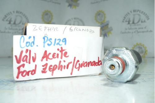 válvula de presión de aceite de ford zephyr cougar granada