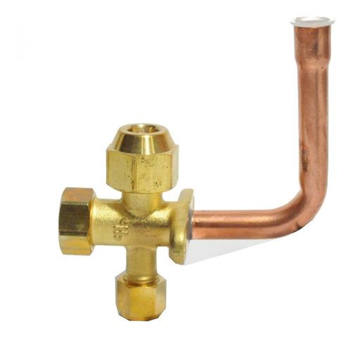 válvula de robinete para split curva de 1/2 pulgadas.