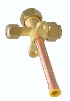 valvula de servicio 1/4  para condensador de minisplit