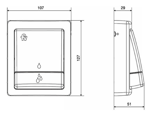 válvula descarga inodoro fv 368.01 + tecla dual 368.04