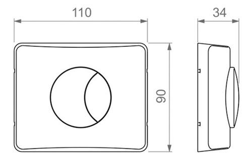 válvula descarga inodoro+ tapa con tecla doble hydra dúo cr