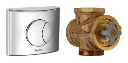 válvula descarga inodoro + tecla doble dual deca hydra duo