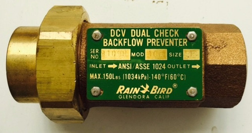 valvula dual check control de retorno fabricada en  usa