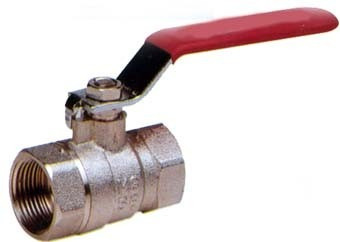 válvula esférica agua riego de bronce 1'' pulgada