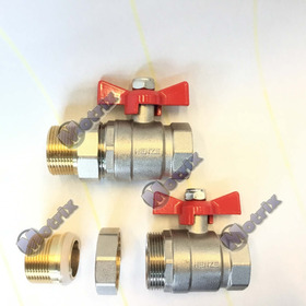Valvula Esferica Bronce 1 1/4 Pulg Con 1/2 Union X 4 Pack
