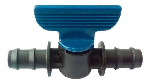 valvula esferica plastica 16mm x 16mm doble espiga riego
