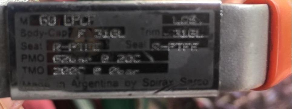 Válvula Esferica Spirax Sarco M60 Acero Inox 316