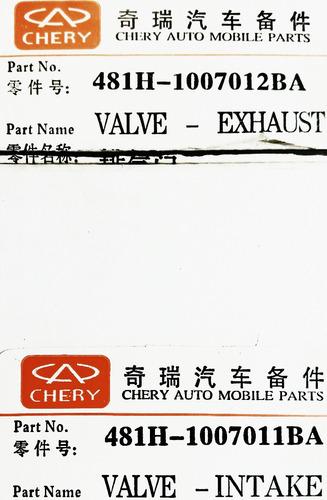 valvula h5 a520 escape admision 100% origi chery a1 t fisica
