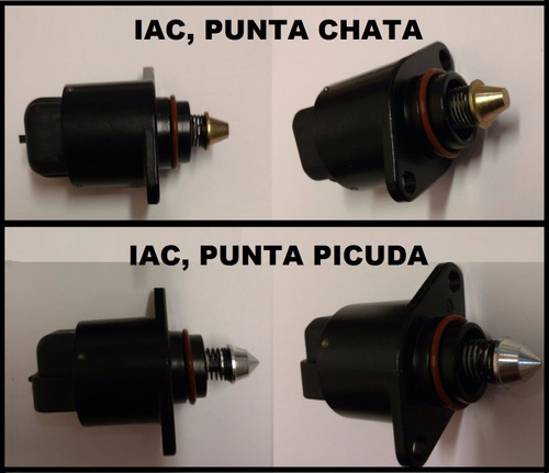 valvula iac chevy punta picuda. marca original gm parts