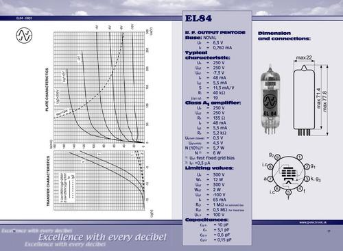 válvula jj tesla el84 6bq5 platinum amplificador guitarra