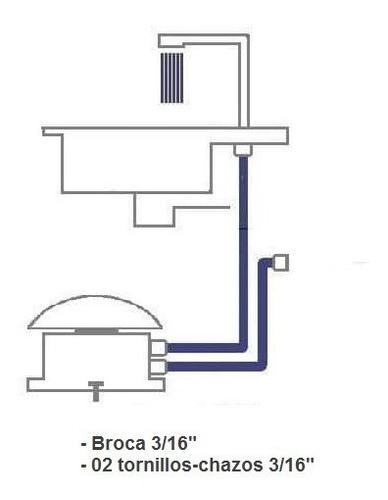 válvula llave de pedal con griferia trafico pesado