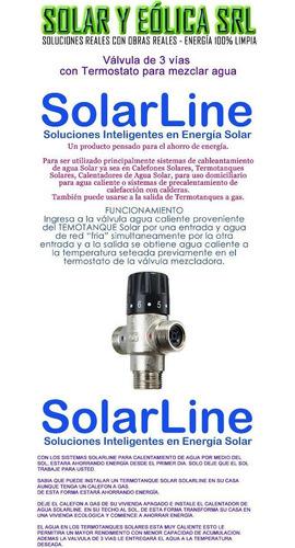 valvula mezcladora agua caliente para termotanques solares