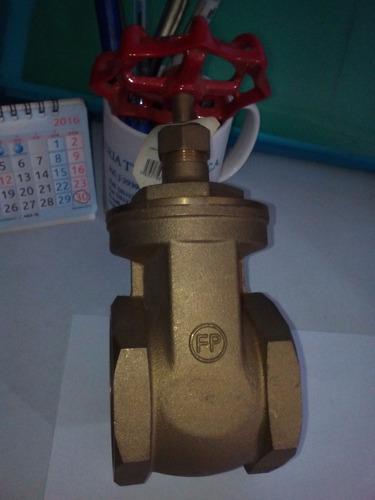válvula o llave de compuerta de 2 1/2  fp fundicion pacific
