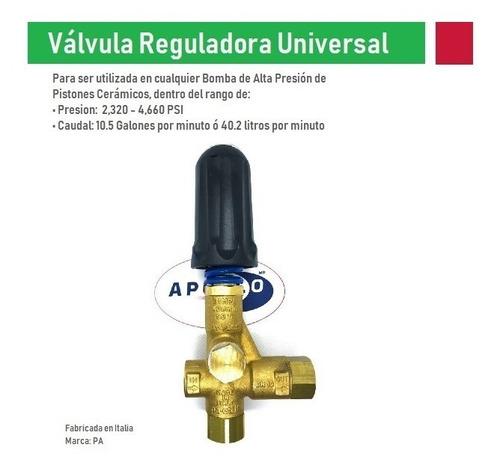 valvula reguladora bypass hidrolavadora industrial 4660 psi