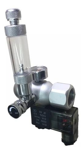 válvula reguladora de co2 soma com solenoide 110v