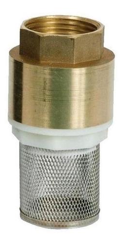 válvula retención de fondo 11/2 pulgada bronce código 2733