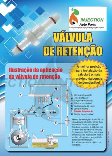 valvula retenção antiretorno combustível àgua e ar universal