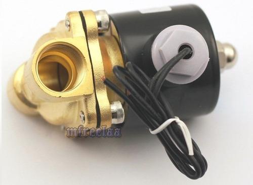 válvula selenoide de bronce 110/120 vac 1/2  aire y agua