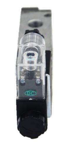 válvula solenoide 1/4 5/2 vias n18 24vcc ou 220vca
