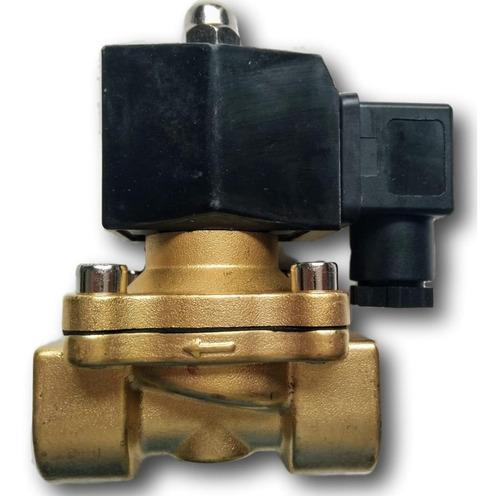válvula solenóide 2/2 vias nf rosca 3/4 água ar e óleo 220v