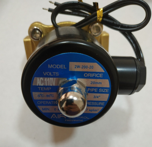 válvula solenoide 3/4 - 110v - electroválvula