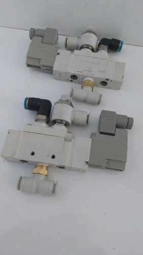 válvula solenóide smc 5/2 vias .sy7120-5d-02 + conexões.