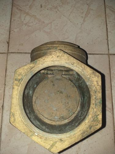 válvula swing check  de bronce de 4 pulgadas y check 4