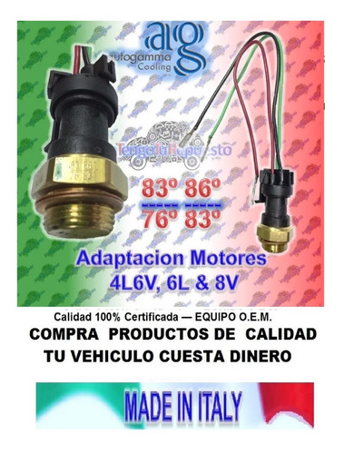 válvula temperatura rad. adaptacion 4l -6v-6l -8v con conect