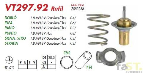 válvula termostática marelli palio stilo punto 297.92