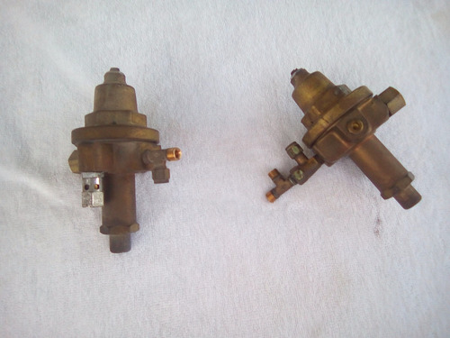 válvulas de presión de oxigeno y aire
