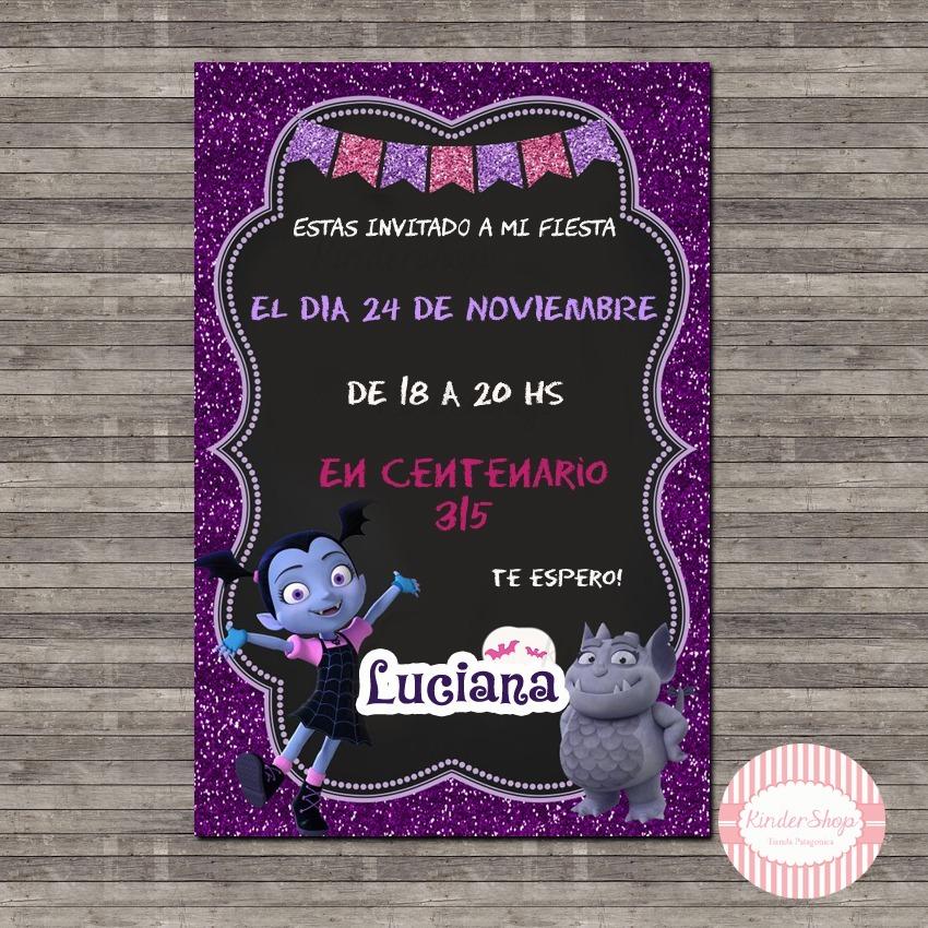 Vampirina Promo 40 Tarjetas Invitaciones Personalizadas