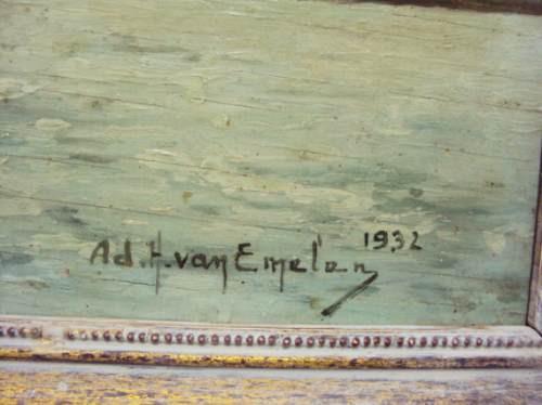 van emelen (1932) - belissimo quadro para colecionador