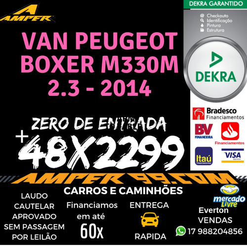 van escolar peugeot boxer m330m 2.3 - 2014 (evrp)