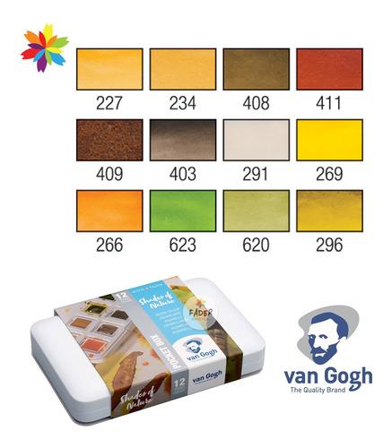 van gogh x12 pocket box colores shades naturaleza acuarelas
