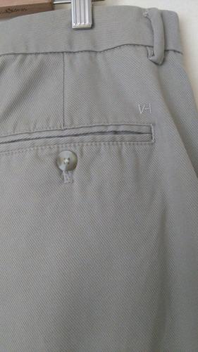 van heusen exclusivo pantalon de vestir  marfil 38/30