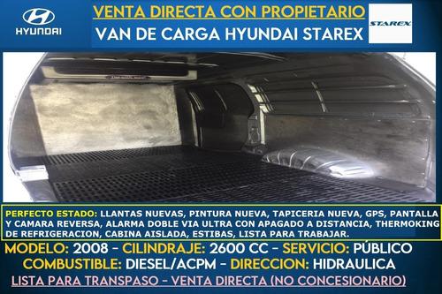 van hyundai h1 starex panel carga diesel 2008 con thermoking