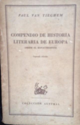 van tieghem, paul - compendio de historia literaria de europ