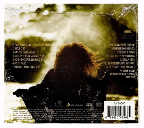 vanessa da mata segue o som cd lacrado original sony music